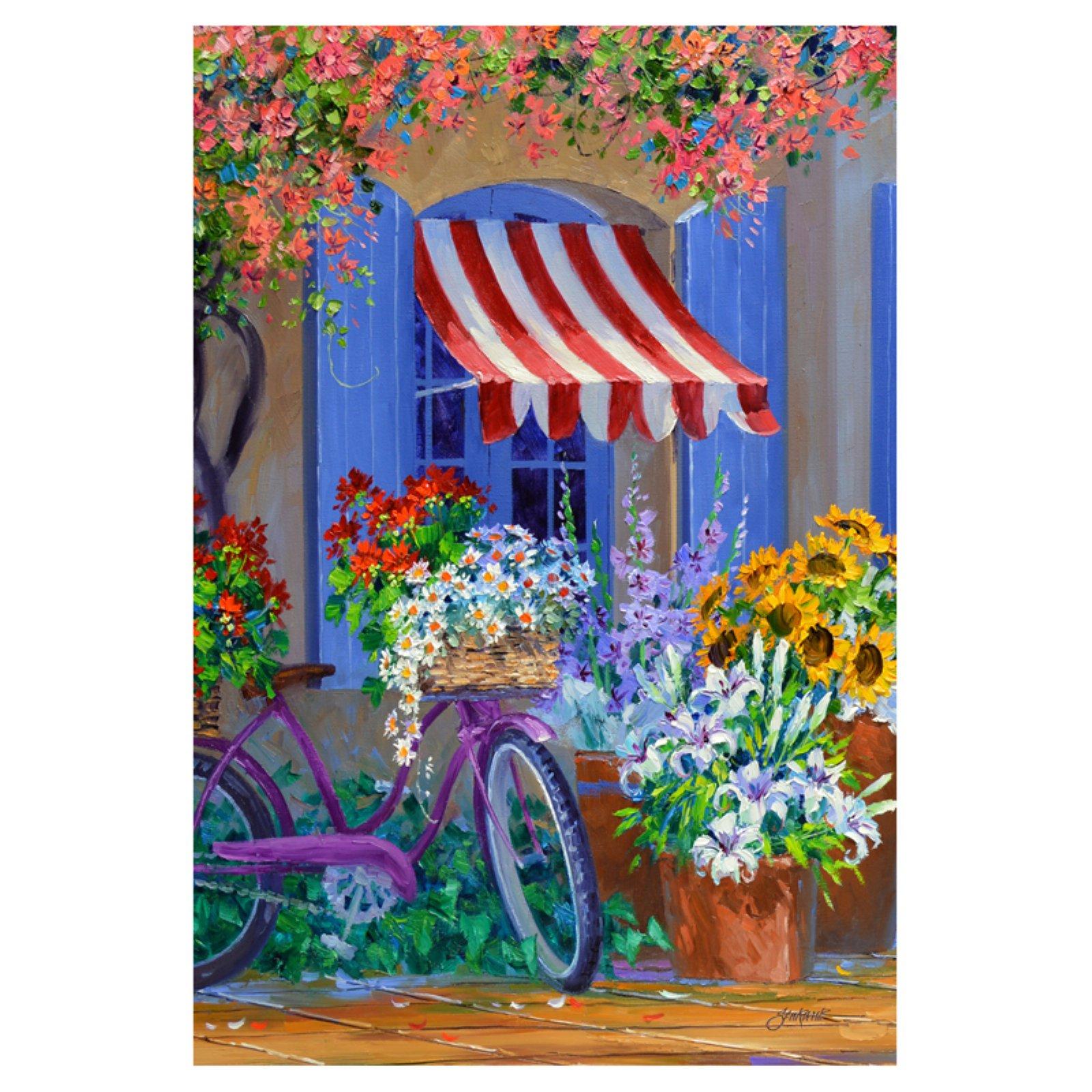 Toland Home Garden Blooming Bike Flag Walmart Com