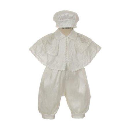 7f9685dda The Rain Kids - Rain Kids Baby Boys White Silk Cross Cape Hat ...