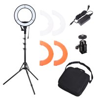"Yescom 13"" 35W LED Ring Light Dimmable with Tripod Photo Live Stream Game Webcam Video Lighting Stand Kit 5500K"