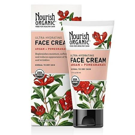 Nourish Organic Ultra-Hydratante Crème Visage - Argan + grenade 1,7 oz