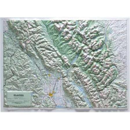 - Hubbard Scientific Raised Relief Map 416 Glacier National Park