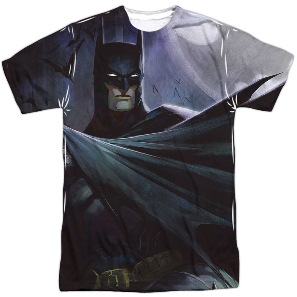 Infinite Crisis Men's  Batman Vs Joker Sublimation T-shirt White