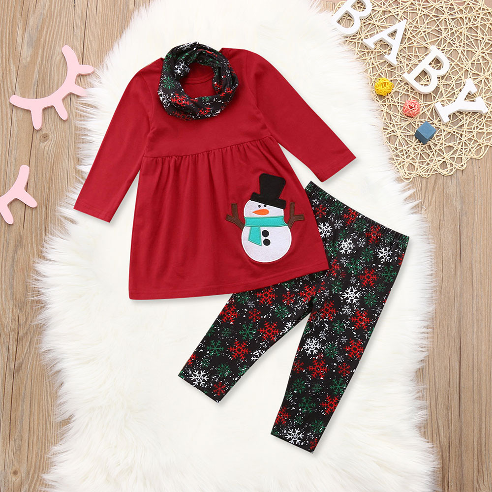 169686f9a4d0 Iuhan - Iuhan Toddler Kids Baby Girls Long Sleeve Snowman Print Tops ...