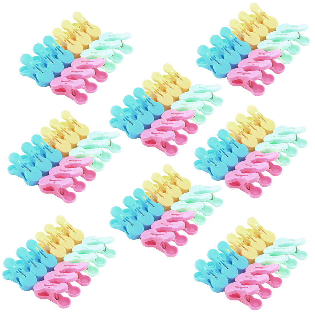 Household Plastic Socks Towel Bag Clothing Clothes Clips Clamp Clothespin 96pcs