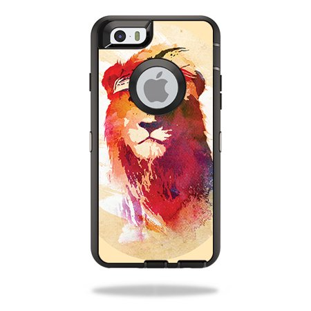 Skin Decal For Otterbox Defender Iphone 6 Plus Case Solid Red Color Itsaskin Com