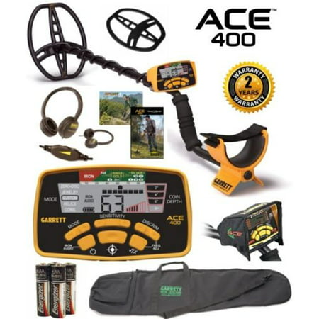 Sensor Package (Garrett Ace 400 Metal Detector with Free Accessory Package Plus Protective Carry)