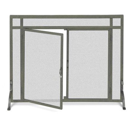 Flat Fireplace Screen W Doors In Iron Finish 39 In Width