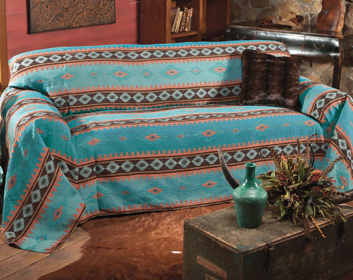Charmant Skystone Turquoise Southwestern Sofa Cover   Rustic Furniture   Walmart.com