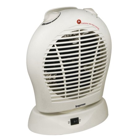 Oscillating Fan Heater With Thermostat White Walmart Com