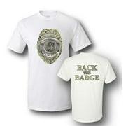 Back the Badge 2 Sided T-Shirt Large