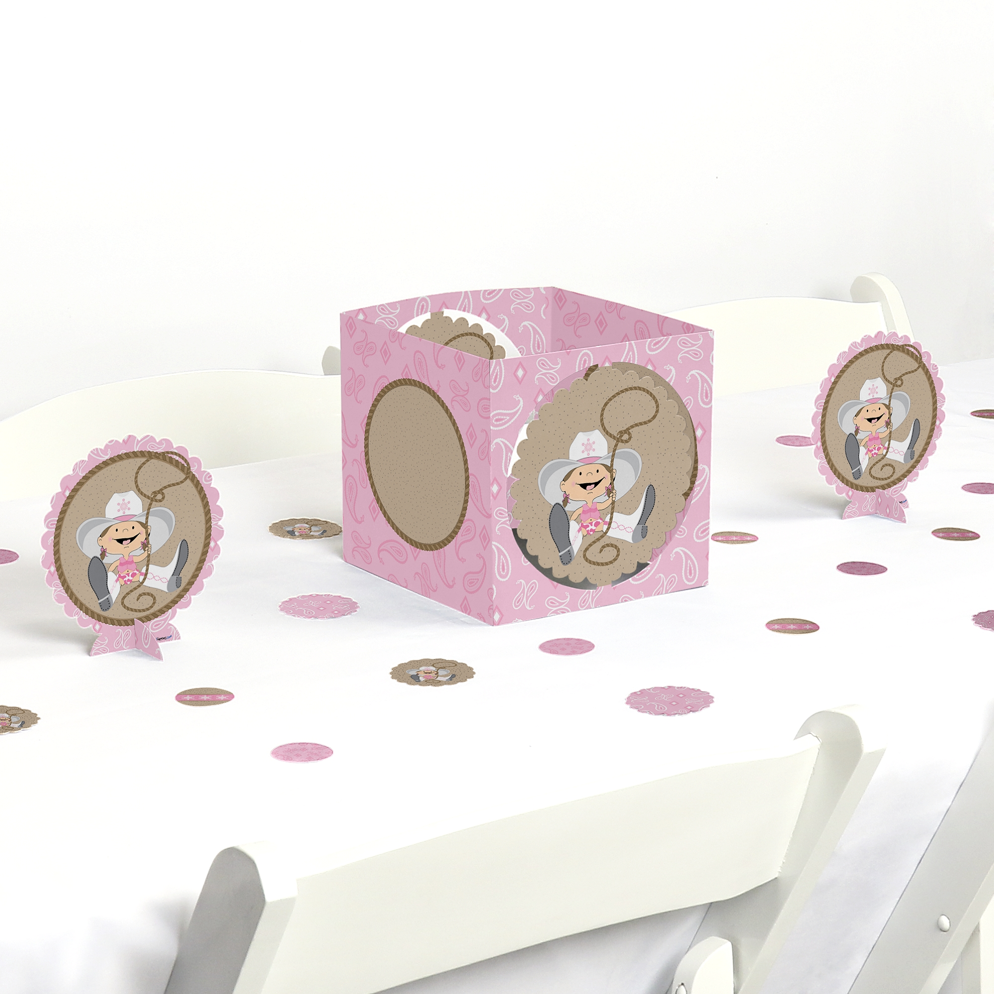 Little Cowgirl - Party Centerpiece & Table Decoration Kit