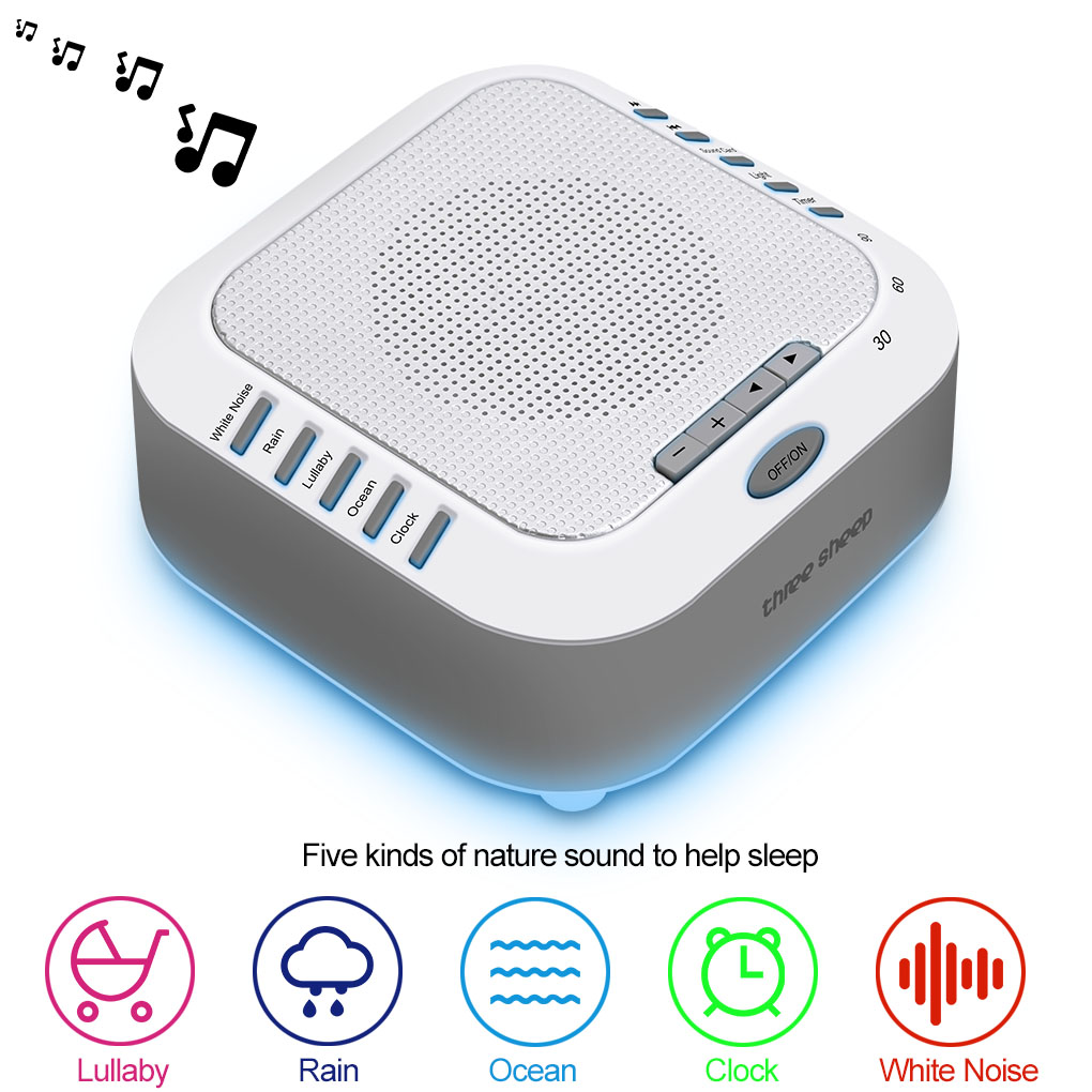 White Noise Machine Digital USB Noise-Cancelling Sleep Machines Baby Sound Machine With Natural Sound Effects
