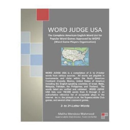 Word Judge Usa  The Complete American English Word List For Popular Word Games Approved By Wgpo  Word Game Players Organization