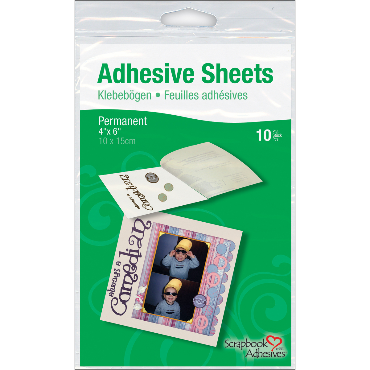 3L 3-15/16 Inch by 5-7/8 Inch Adhesive Permanent Transfer Sheets Multi-Colored