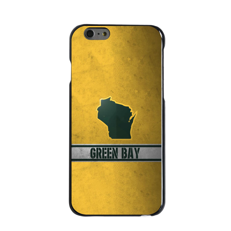 "CUSTOM Black Hard Plastic Snap-On Case for Apple iPhone 6 PLUS / 6S PLUS (5.5"" Screen) - Green Bay Wisconsin"