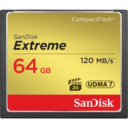 Sandisk Extreme CompactFlash 64GB Memory Card, UDMA 7, Up to 120 MB/s Read Speed (Udma 7 Compact Flash)