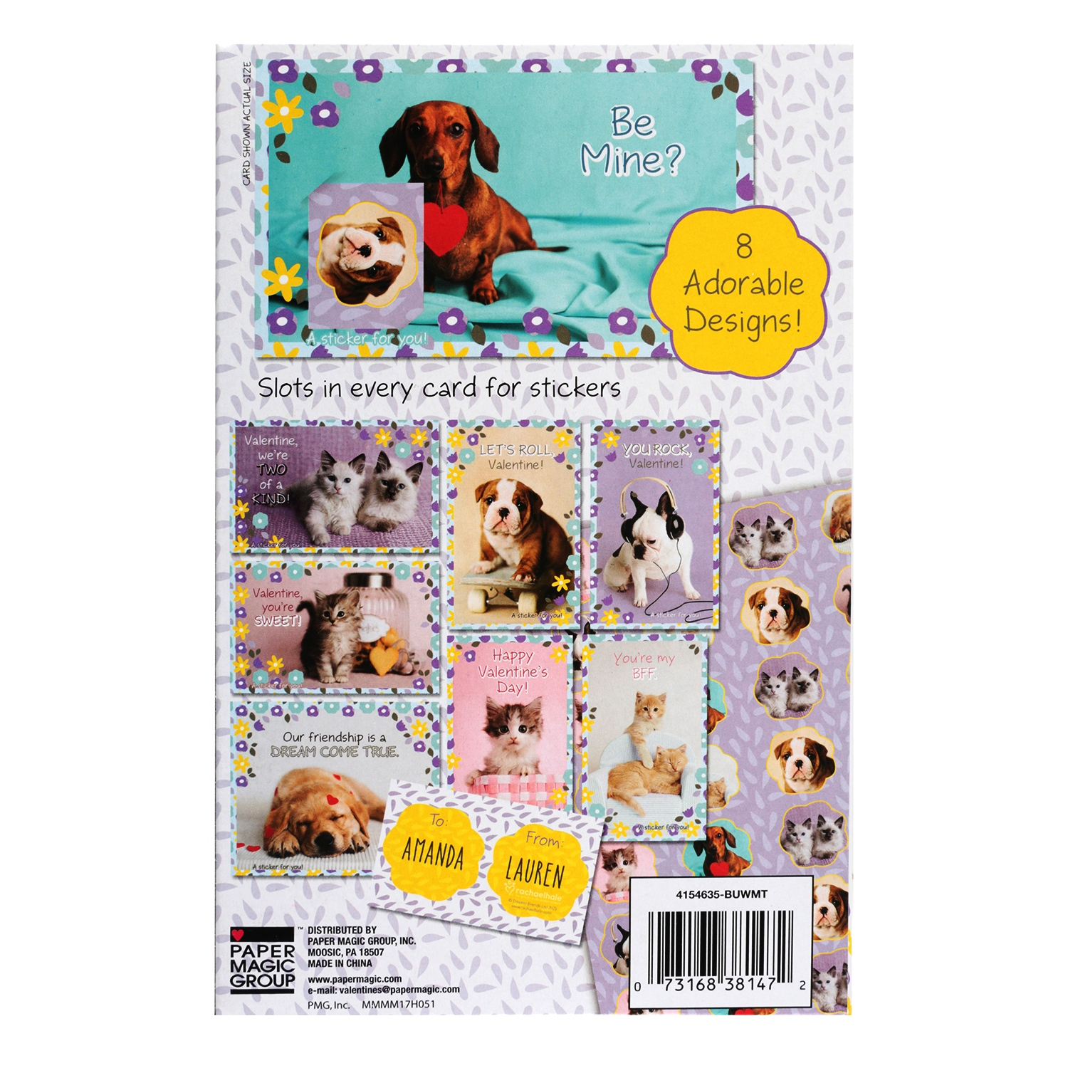 32ct Rachael Hale Valentine Cards With Stickers Walmart