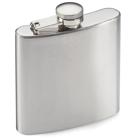 Gbs Brands Stainless Steel Hip Flask Water Liquor Alcohol Travel Container - 6 Oz - Beverage Bottle - Great American Products Hip Flask