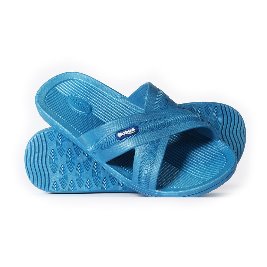 [5] Bokos Durable Carolina Blue Anti Slip Womens Sandals Easy Clean Odor Resistant by