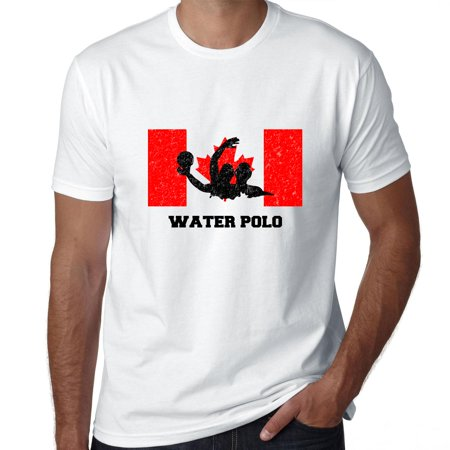 Canada Olympic - Water Polo - Flag - Silhouette Men's T-Shirt