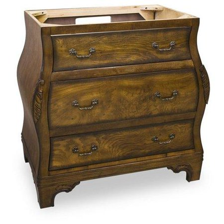walnut bombe collection 34 inch bathroom vanity cabine
