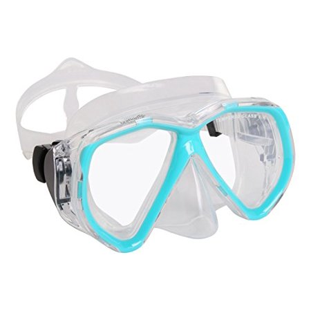 Ivation Snorkel Mask - Mask Snorkel - Double Lens Diving mask Perfect for Scuba Diving, Snorkeling, Swimming