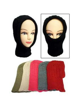Brand New  Kids Knitted Ski Masks - Winter Caps Beanies 6Pc Lot (Wck104  ZZ)