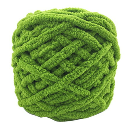 Chunky Wool Yarn DIY Soft Thick Bulky Arm Knitting Wool Roving Crochet Green Spring Knitting Yarn