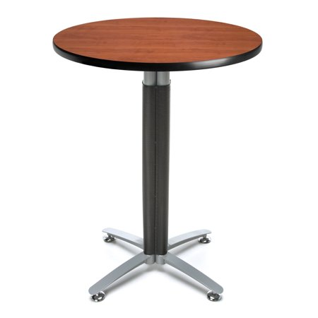 CMT30RD-CHY Restaurant Furniture 30 Inch Round Metal Mesh Base Cafe Cherry Table With Honeycomb Core