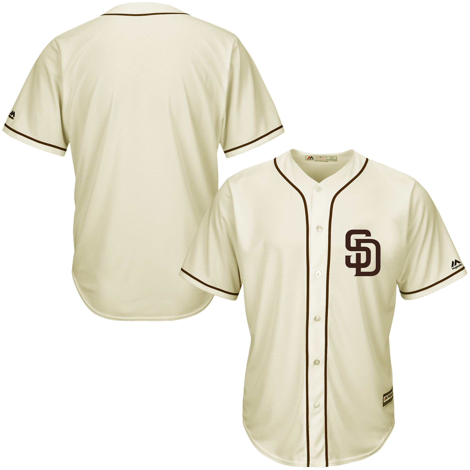 San Diego Padres Majestic Cool Base Ivory Fashion Team Jersey - Cream