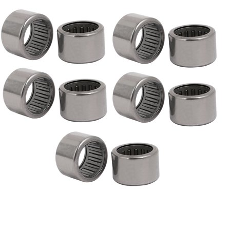 HK1816 24mmx18mmx16mm Drawn Cup Open End Needle Roller Bearing Silver Tone 10pcs Silver Tone Open End