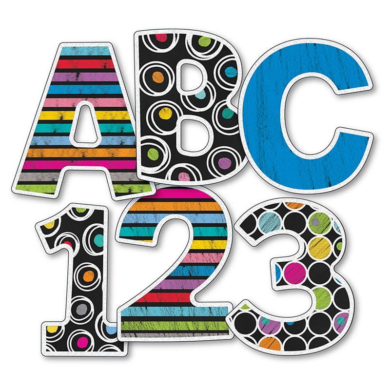 Colorful Chalkboard 4In Ez Letters - image 1 de 1