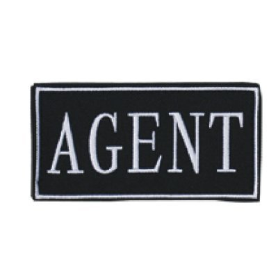 "Law Enforcement Patches- AGENT (Yellow 2"" x 4"")"