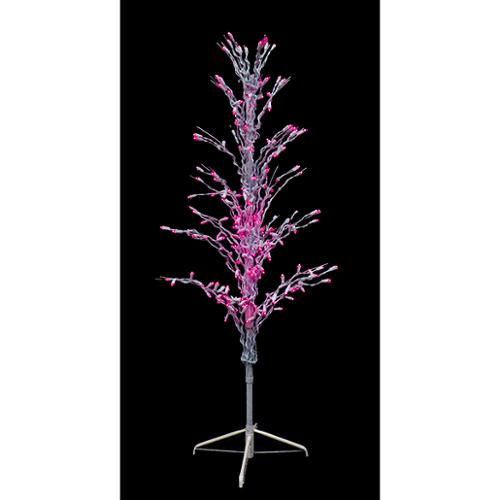 4' Pink LED Lighted Christmas Cascade Twig Tree Outdoor Yard Art Decoration