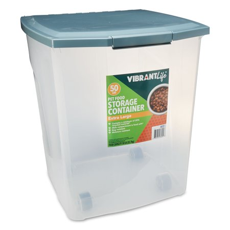 Vibrant Life Pet Food Storage Container Extra Large 50