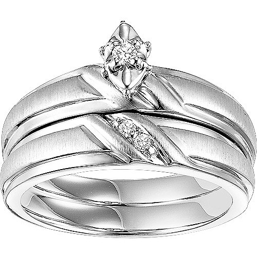 Forever Bride 1/20 Carat T.W. Diamond Sterling Silver Bridal Set
