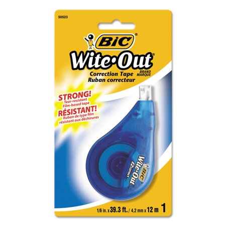Bic Wite Out Ez Correct Correction Tape  Non Refillable  1 6  X 472