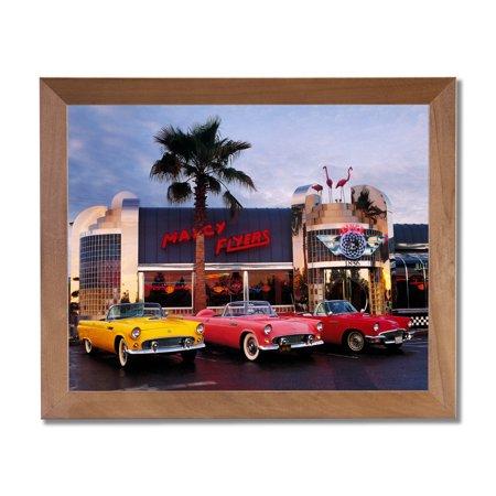 55 56 57 Ford Thunderbird Car Diner Wall Picture Honey Framed Art ...