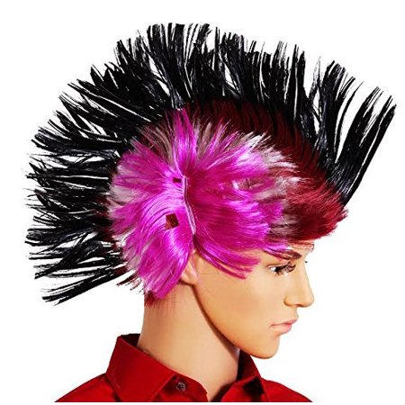 dazzling toys Halloween Fake Wig Massive Wiggling Punk Black Colored Wig Adults, Teens Kids. (Toys R Us Halloween Event)