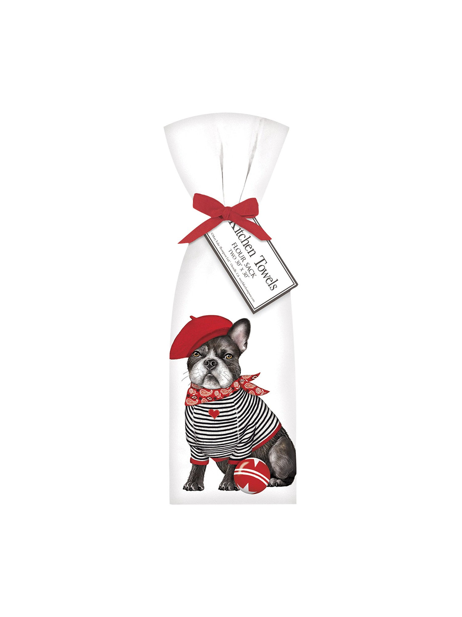 Mary Lake Thompson French Bulldog Tea Towels Set Of 2 Dog Kitchen Towels White 30 X 30 Walmart Com Walmart Com