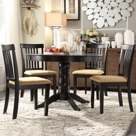 Lexington 5-Piece Round Dining Set with 4 Mission Back Chairs ()