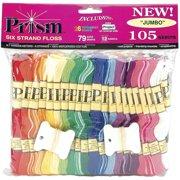 Prism 6-Strand Floss Jumbo Pack 8.7yd 105/Pkg, Assorted Colors