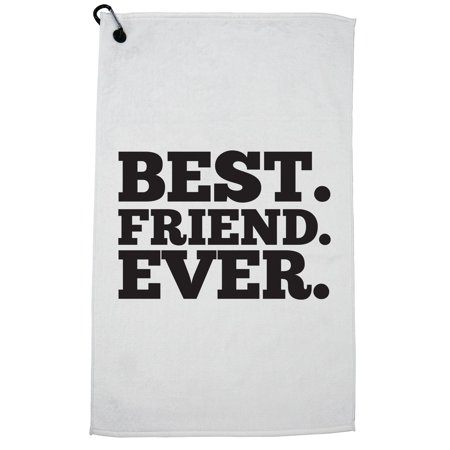Best Friend Ever - Simple Large Graphic Golf Towel with Carabiner Clip