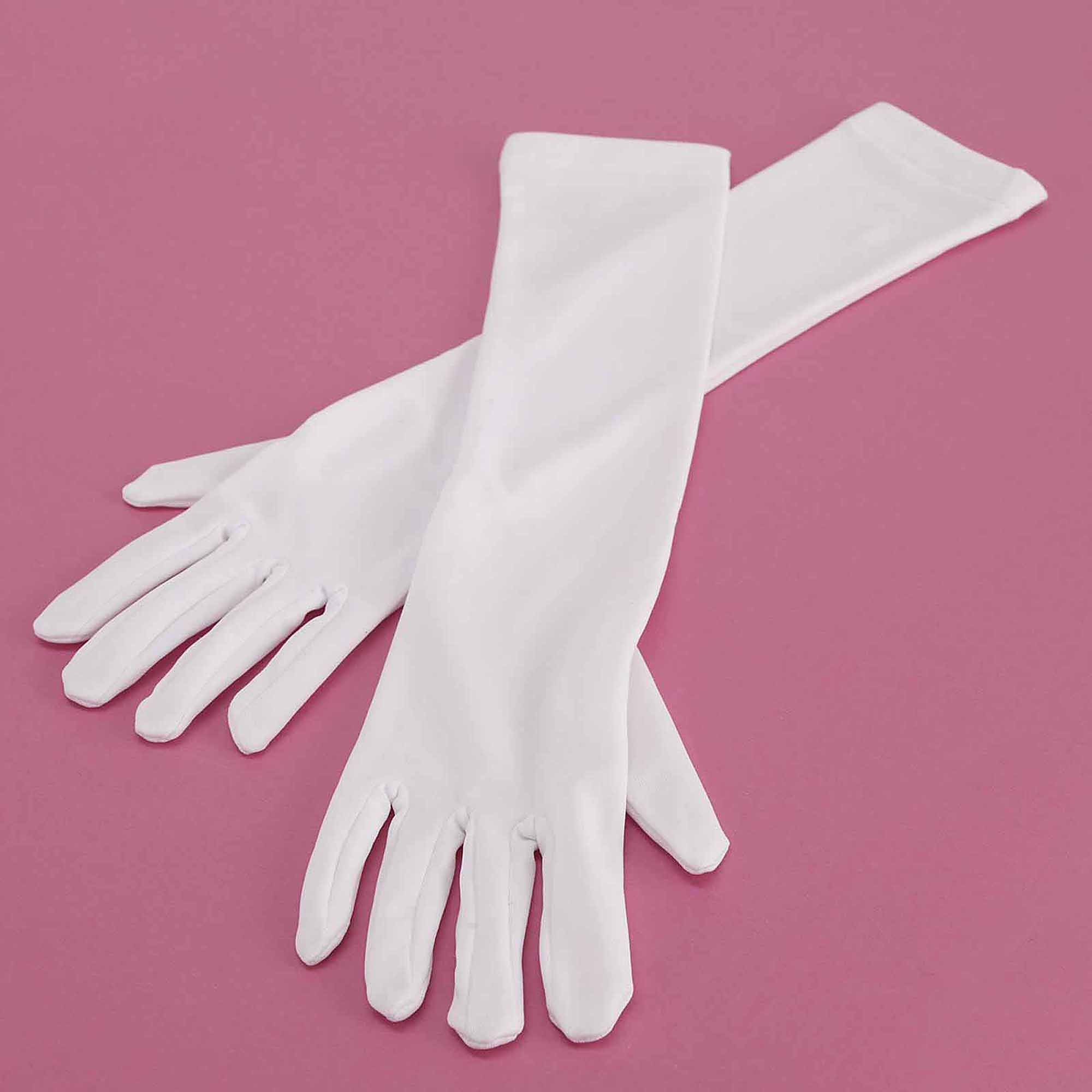 Long White Gloves Child Halloween Costume Accessory