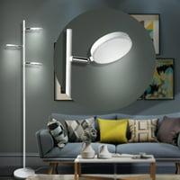 57'' Led Tree Floor Lamp w/ 3 lights (5.5W 500 LM 3000K;), Adjustable lighting angle, White