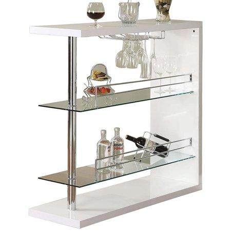 Coaster Contemporary Bar Storage Table, Multiple Finishes ()
