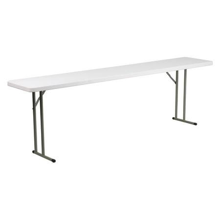 Flash Furniture 18''W x 96''L Granite White Plastic Folding Training Table ()