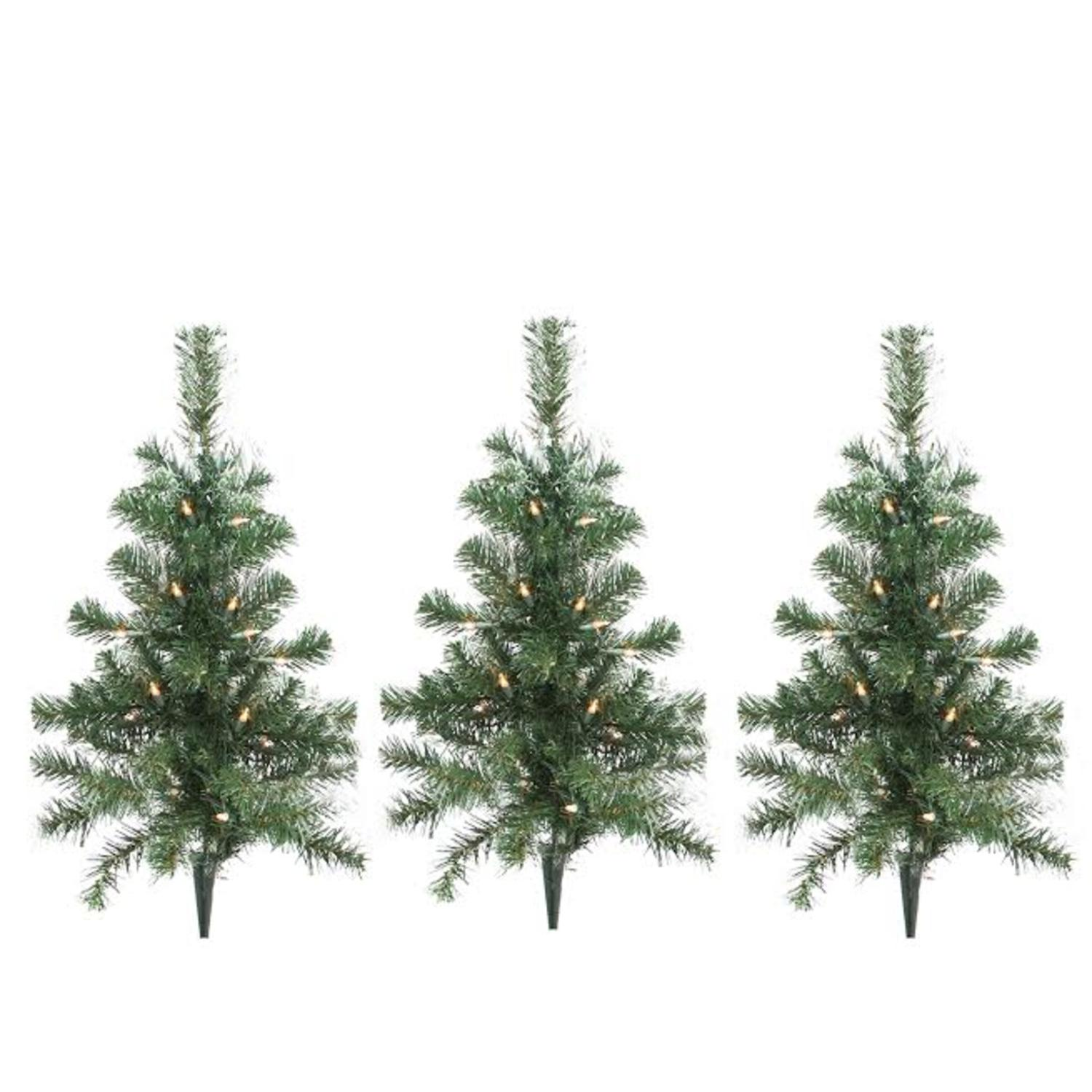 pack of 3 lighted christmas tree driveway or pathway markers outdoor christmas decorations walmartcom