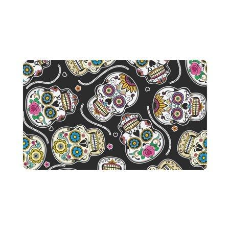 MKHERT Beautiful Sugar Skulls Doormat Rug Home Decor Floor Mat Bath Mat 30x18 - Skull Doormat