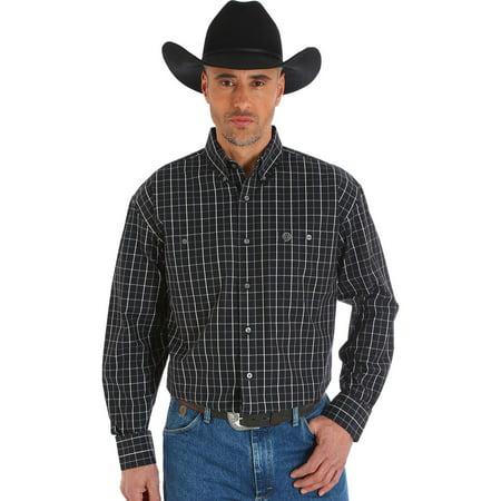Wrangler Mens George Strait Poplin Shirt   Mgsx372